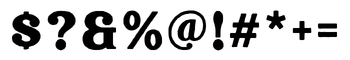 Hallen-Rough Font OTHER CHARS