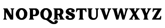 Hallen-Rough Font UPPERCASE