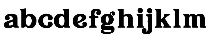 Hallen-Rough Font LOWERCASE