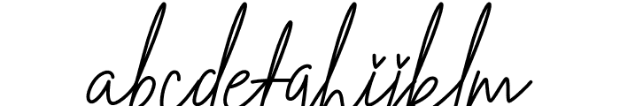 Hallenitta Font LOWERCASE