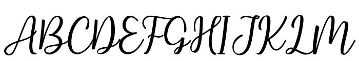 Hallo Carthy Font UPPERCASE