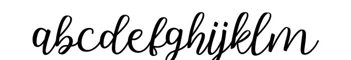 Hallo Carthy Font LOWERCASE