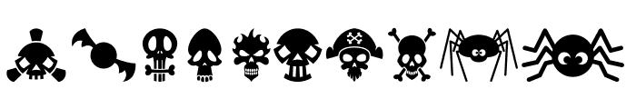 Halloweenbols Symbols Font OTHER CHARS
