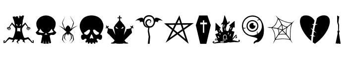Halloweenbols Symbols Font UPPERCASE