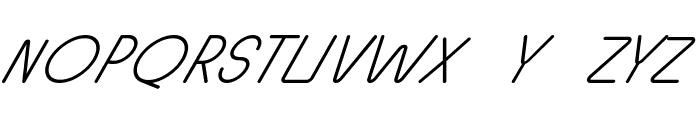 Halmondo Italic Font UPPERCASE