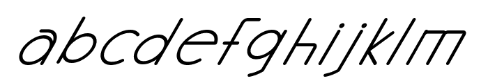 Halmondo Italic Font LOWERCASE