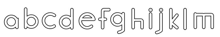 Halmondo outline Font LOWERCASE