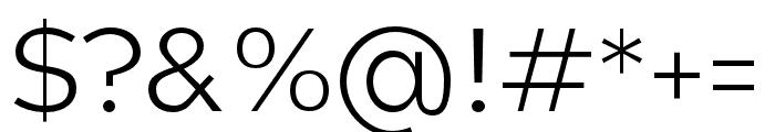 Hamlin Light Font OTHER CHARS