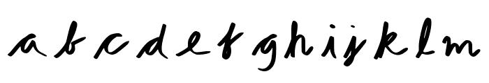 Hand Drawn Regular Font LOWERCASE