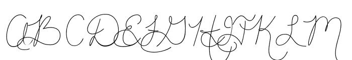 HandOfJoyBreeze Font UPPERCASE