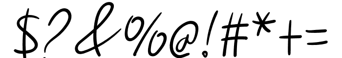 Handmade1 Font OTHER CHARS