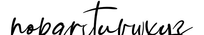 Handmade1 Font LOWERCASE