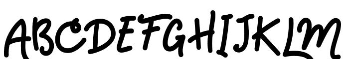 HandsDown Font UPPERCASE