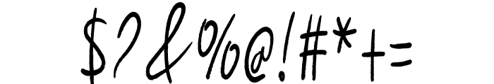 Handwritting Font OTHER CHARS