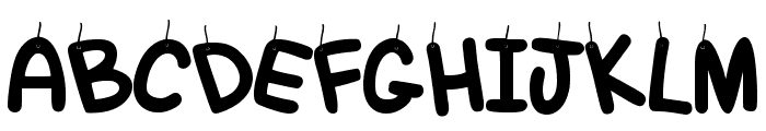 Hanging Out Regular Font UPPERCASE
