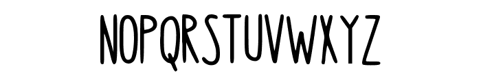 Hanging Font UPPERCASE