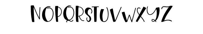 HangingOut Regular Font UPPERCASE