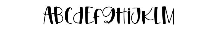 HangingOut Regular Font LOWERCASE