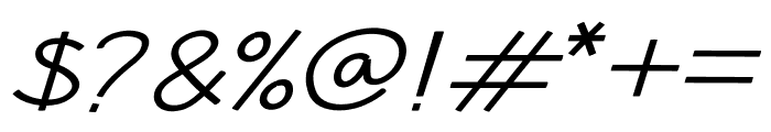 Hansville Italic Font OTHER CHARS