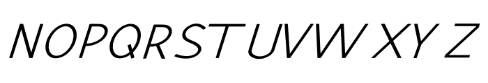 Hansville Italic Font UPPERCASE
