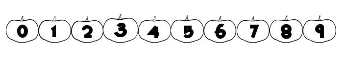 Happy Pumpkins Outline Font OTHER CHARS