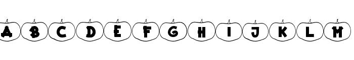 Happy Pumpkins Outline Font LOWERCASE