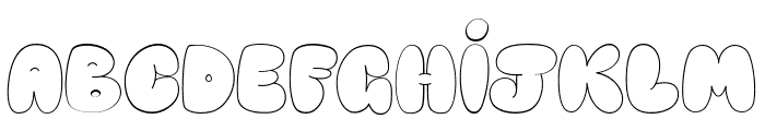 Happy brown cat Font UPPERCASE