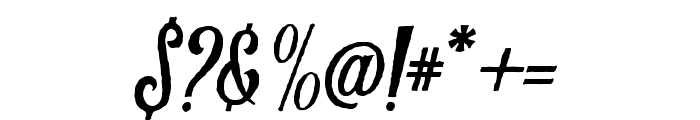 Harlend-Rough Font OTHER CHARS