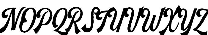 Harlend-Rough Font UPPERCASE