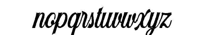 Harlend-Rough Font LOWERCASE