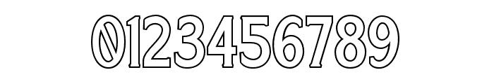 Harlend-Serif Outline Font OTHER CHARS
