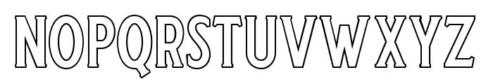 Harlend-Serif Outline Font UPPERCASE