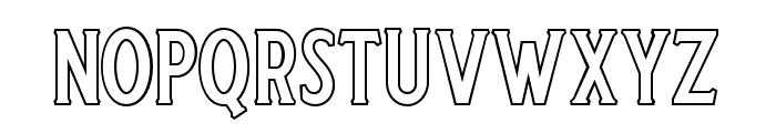 Harlend-Serif Outline Font LOWERCASE