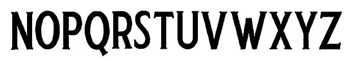 Harlend-Serif Rough Font UPPERCASE