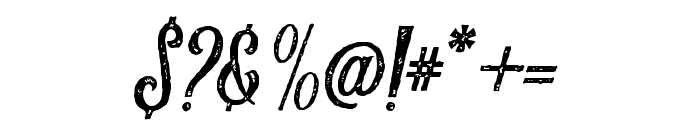 Harlend-Textured Font OTHER CHARS