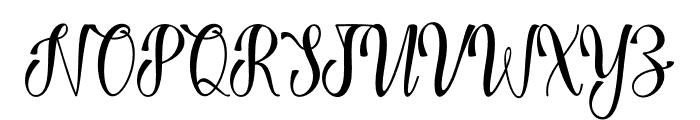 Harvest Love Font UPPERCASE