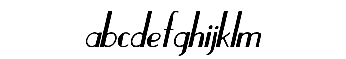 Hastungkoro-Italic Font LOWERCASE