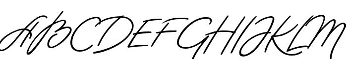 Hastungkoro-Script Font UPPERCASE