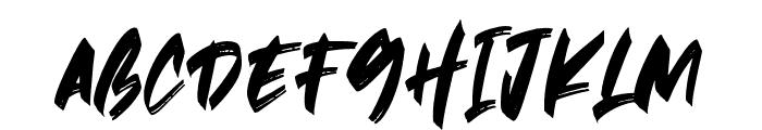 Hawkeyes Font UPPERCASE