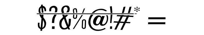 HeadShot Font OTHER CHARS
