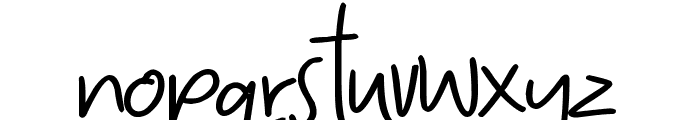 Hearts and Roses Bold Font LOWERCASE