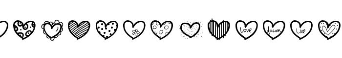 Heartsdingbats Font UPPERCASE