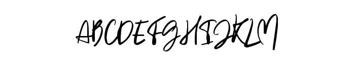 Heaven moon Regular Font UPPERCASE