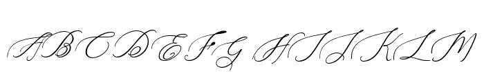 Heavenly -BoldItalic Font UPPERCASE