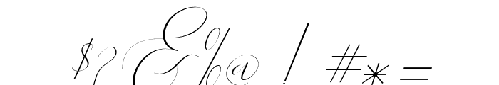 Heavenlyitalic-Italic Font OTHER CHARS