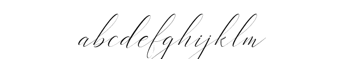 Heavenlyitalic-Italic Font LOWERCASE
