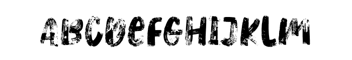 HeavyRelic-Regular Font UPPERCASE