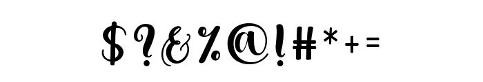HellindaScript Font OTHER CHARS