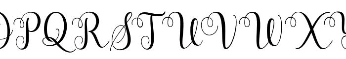 HellindaScript Font UPPERCASE