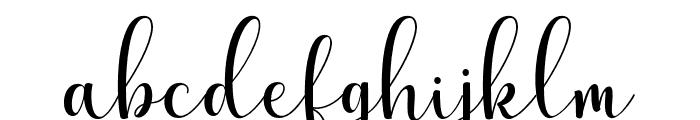 HellindaScript Font LOWERCASE